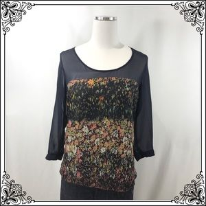 Maeve Navy Floral Blouse #2787